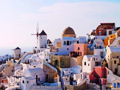 Grecian Seaside Village