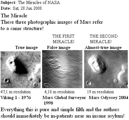 Email about the Face on Mars