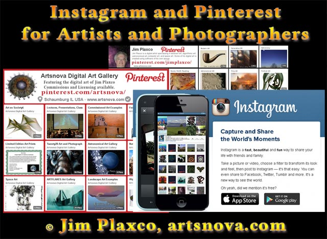 >Instagram and Pinterest for Artists and Photographers