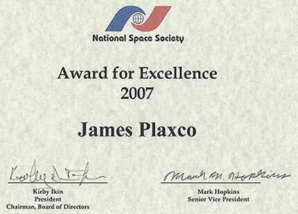 National Space Society Award for Excellence