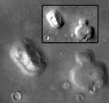 Mars Odyssey Themis image of the Face on Mars