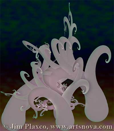 The Tentacled Forest digital abstract art