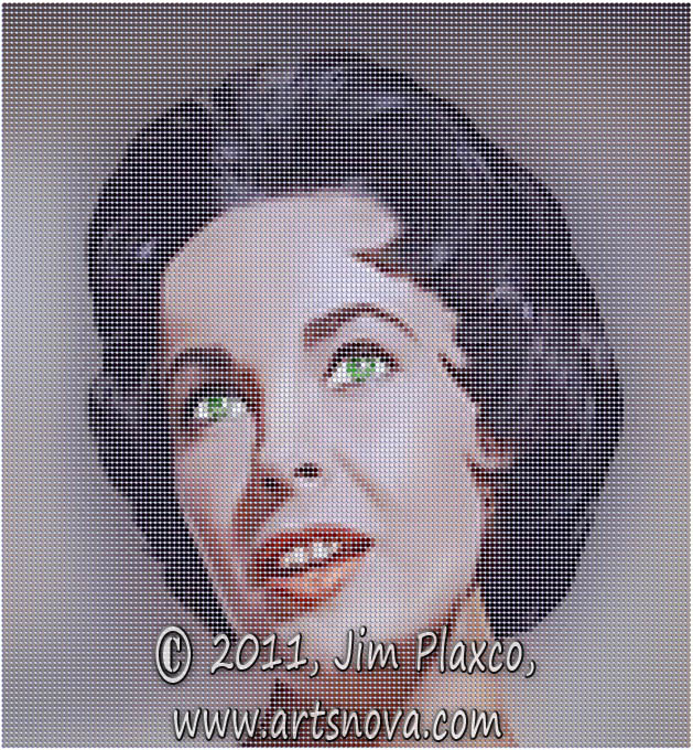Elizabeth Taylor Portrait digital art