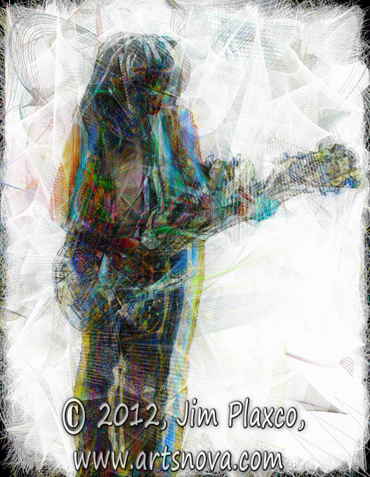 Girl With Guitar digital art
