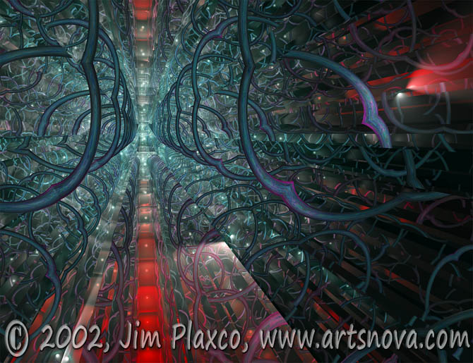 Intus Astrum Navis (Within the Starship) digital art