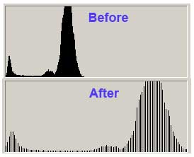 Photoshop Blue Channel Histogram