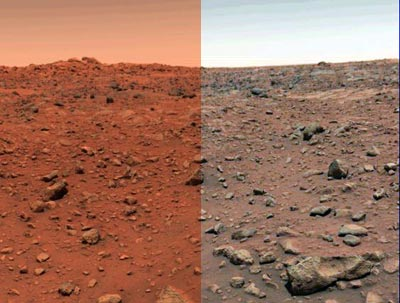 Left Mars as NASA shows it
